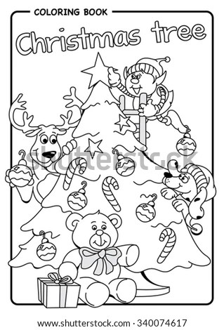 Coloring Page Fun Children Board Game Stock Vector