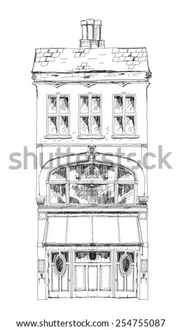 Vintage Lisbon Tram Hand Drawn Vector Stock Vector