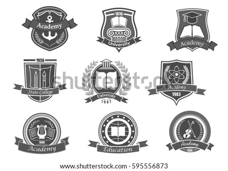Yacht Club Sailing Sport Retro Symbols Stock Vector