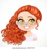 cute redhead girl hairdresser hair