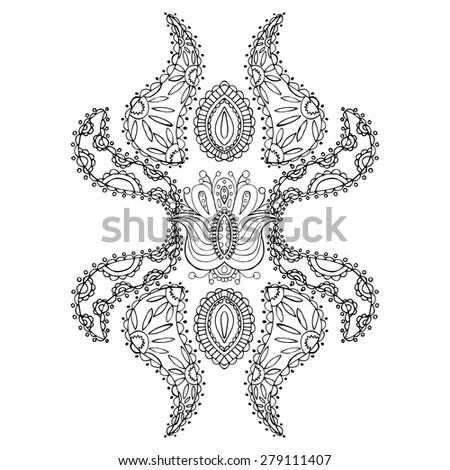 Elephant Head Adult Antistress Coloring Page Imagem