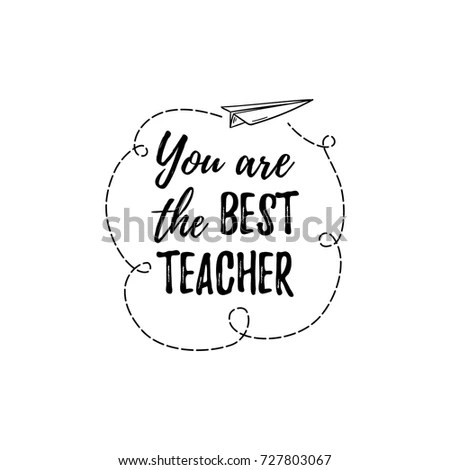 You Best Teacher Label Greeting Card Stock Vector