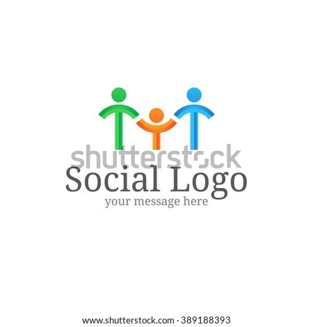 Team Work Play Logo Community Sign Stock Vector 320887262