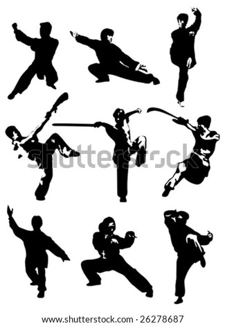 Rock Guitar Player Silhouettes Stock Vector 24966055