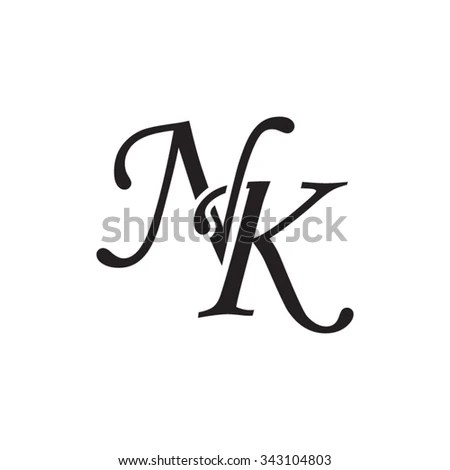 Text Illustration Featuring Girly Alphabet Letters Stock
