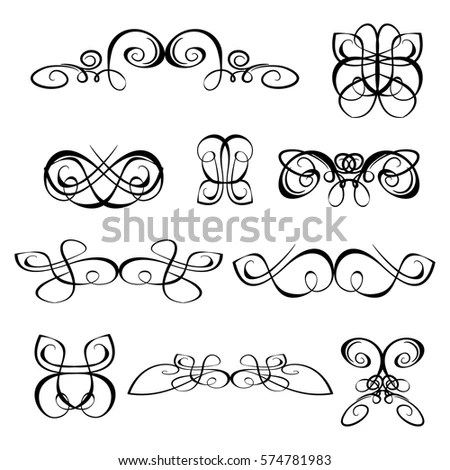 Vintage Set Capital Letter Monograms Logos Stock Vector