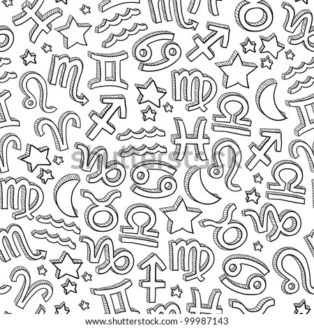 Doodle Style Zodiac Astrology Symbol On Stock Vector