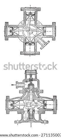 Vintage Automatic Lathe Machine Beginning 20th Stock Photo