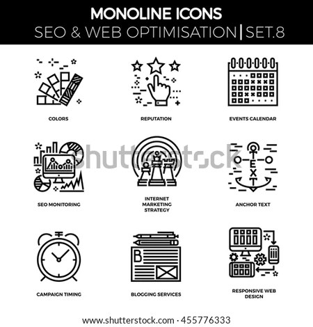 Reputation Management Icon Vector Flat Icon Stock Vector
