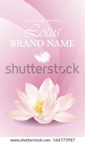 Vector Lotus Horizontal Banner On Pink Stock Vector