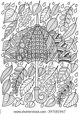 Hand Draw Vector Doodle Coloring Page Stock Vector 395169568  Shutterstock