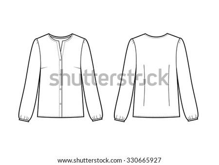 Blazer Jacket Corporate Wear Fashion Illustration Stock
