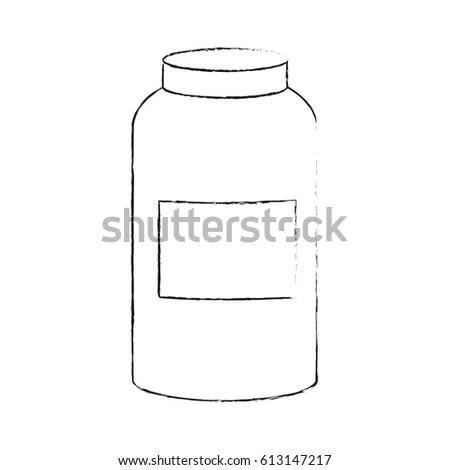 Milk Bottle Glass Milk Cartoon Vector Stock Vector