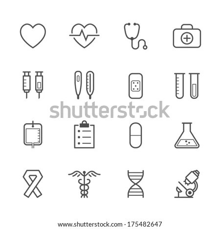 Medical Icons White Background No1 Stock Vector 126926873