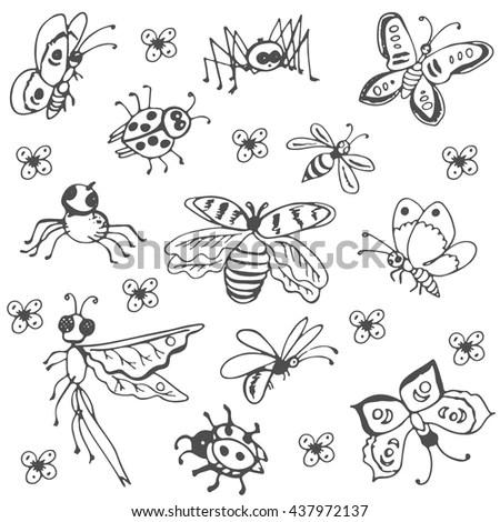 Bugs 1 Snail Vector Isolated Black Stock Vector 101969266