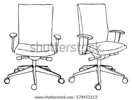 Office Chair Instructions Drawing Stock Vector 98861471