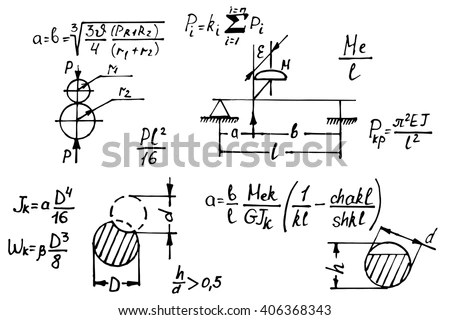Physical Equations On Whiteboard Science Vector Stock