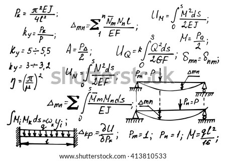 Newton Law Theory Physics Mathematical Formula Stock