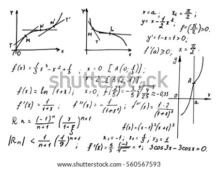 Vintage Education Background Trigonometry Law Theory Stock