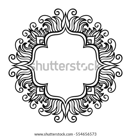 Ornate Border Gothic Lace Tattoo Celtic Stock Illustration