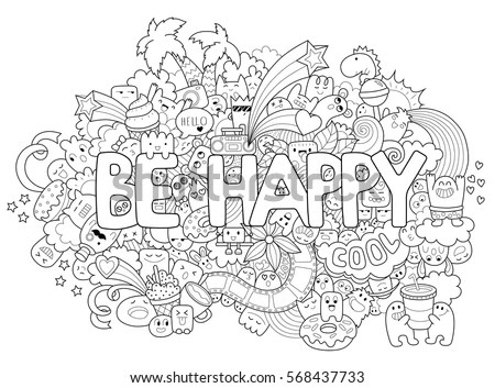 Istanbul City Hand Lettering Doodles Elements Stock Vector