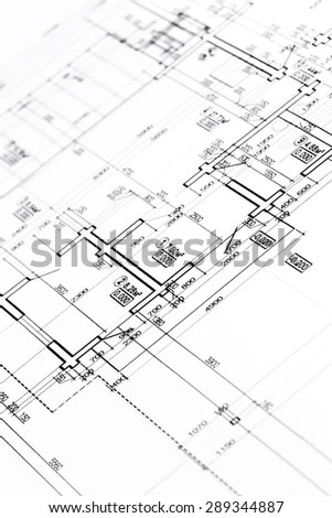 Detailed Drawing Electrical Circuits Stock Photo 90446155