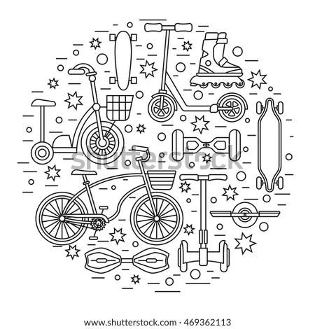 Mountain Bike Info Graphic Elements Vector Stock Vector