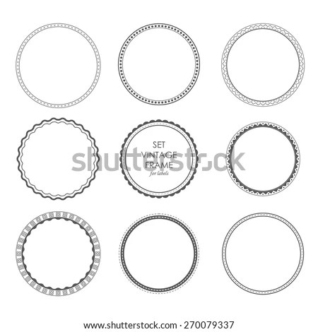 Collection Round Decorative Border Frames Clear Stock