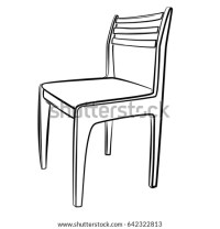Black And White Outline Chair Pictures to Pin on Pinterest ...