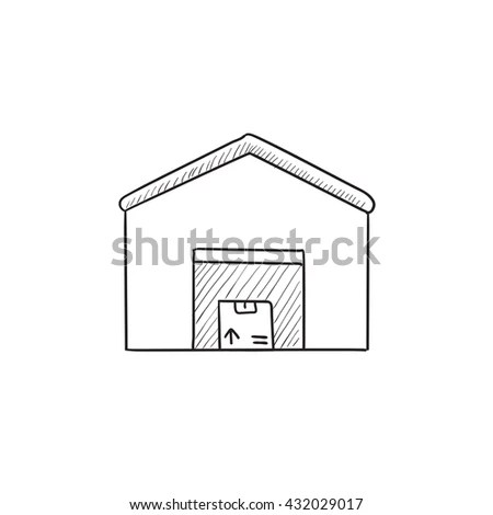 House Plan Thin Line Vector Illustration Stock Vector