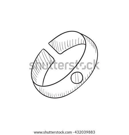Bracelet Sketch Icon Web Mobile Infographics Stock Vector