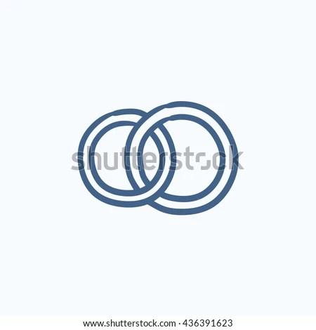 Wedding Logo Gold Wedding Ringsstylized Engagement Stock