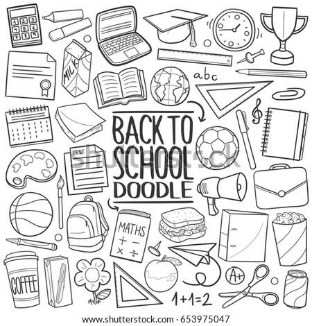 Welcome Back School Typographical Background School Stock