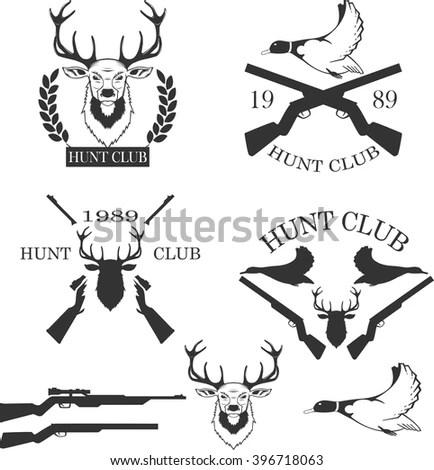 Big Set Treerings Arrows Antlers Hand Stock Vector