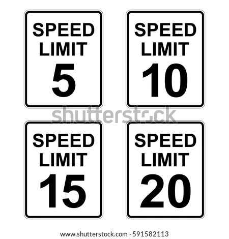 Vector Illustrations Speed Limit Speed Zone Stock