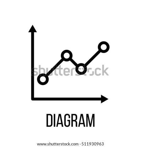 Graph Icon Logo Modern Line Style Stock Vector 609297218
