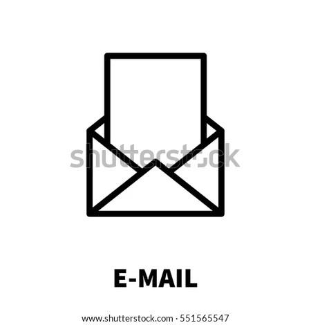 Email Marketing Icon Logo Line Art Stock Vector 442377868