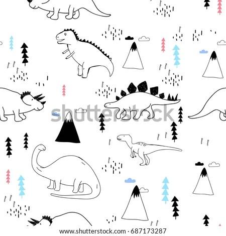 Pilot Dinosaur Illustration Vector Kid Clothes Stock