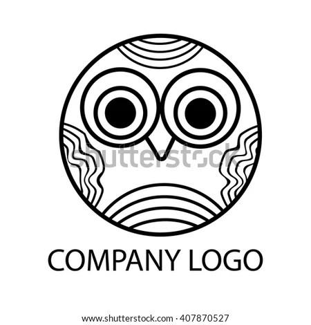 Tribal Spirit Owl Tattoo Design Stock Vector 74071003