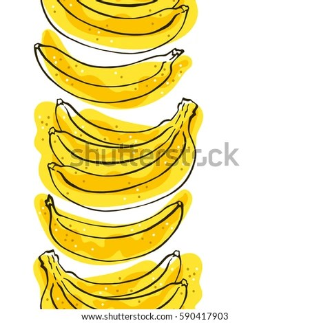 seamless pattern bananas white