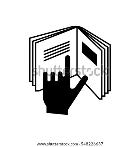 Refer Insert Cosmetics Symbol Hand Pointing Stock Vector