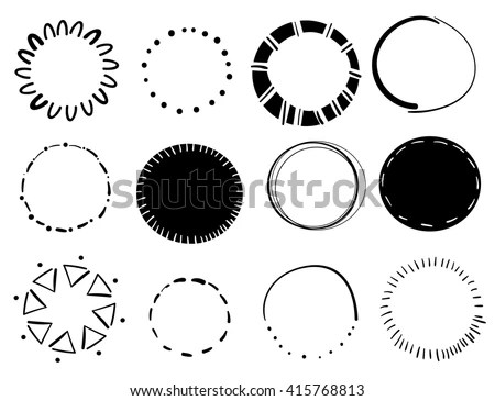 Abstract Circular Design Elements Vector Illustration