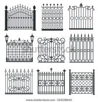 Metal Iron Gates Grilles Fences Ornamental Stock ...