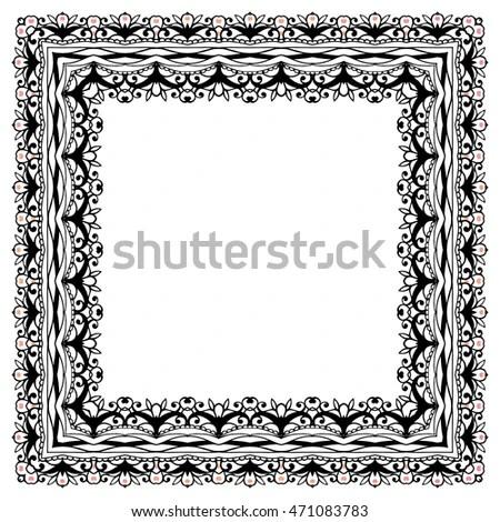 Prayer Rug Floral Arabic Floral Arch Stock Vector