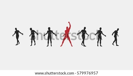 Business Concept Advertising Successful Team Leader Stock