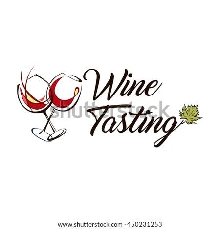 Wine Design Over White Background Vector Stock Vector