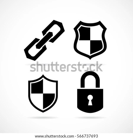 Abstract Security Vector Icon Illustration Isolated Stock