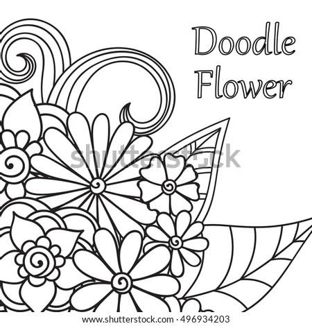 Zentangle Abstract Flowers Doodle Flower Vector Stock