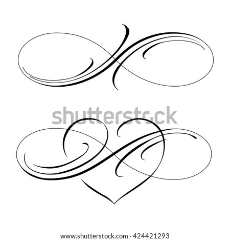 Infinity Love Icon Vector Valentines Day Stock Vector