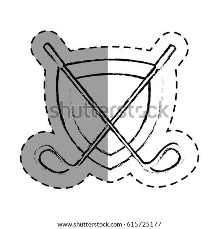 Stvalentines Doodle Card Broken Heart Stock Vector